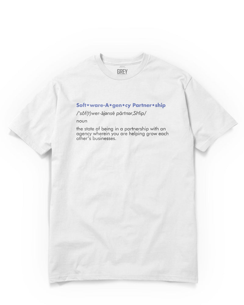 Agency Partnership Tee-XS-GREY Style