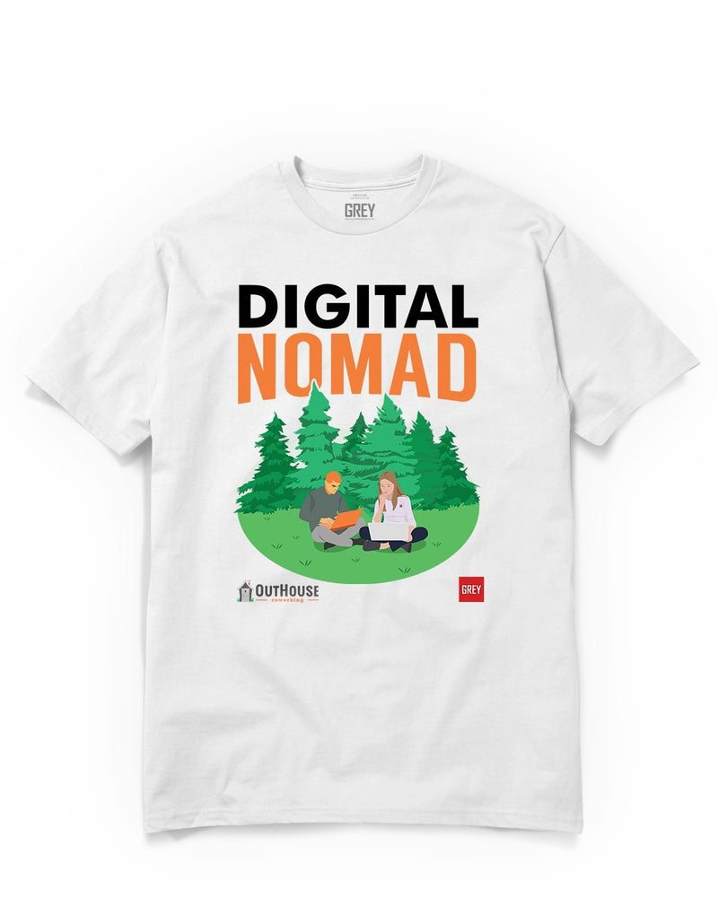 Digital Nomad Duo (GREY X Outhouse)-White-XS-GREY Style