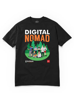Digital Nomad Group (GREY X Outhouse)-Black-XS-GREY Style