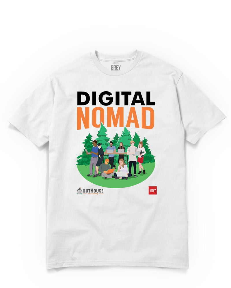 Digital Nomad Group (GREY X Outhouse)-White-XS-GREY Style