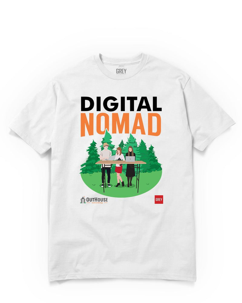 Digital Nomad Trio (GREY X Outhouse)-White-XS-GREY Style