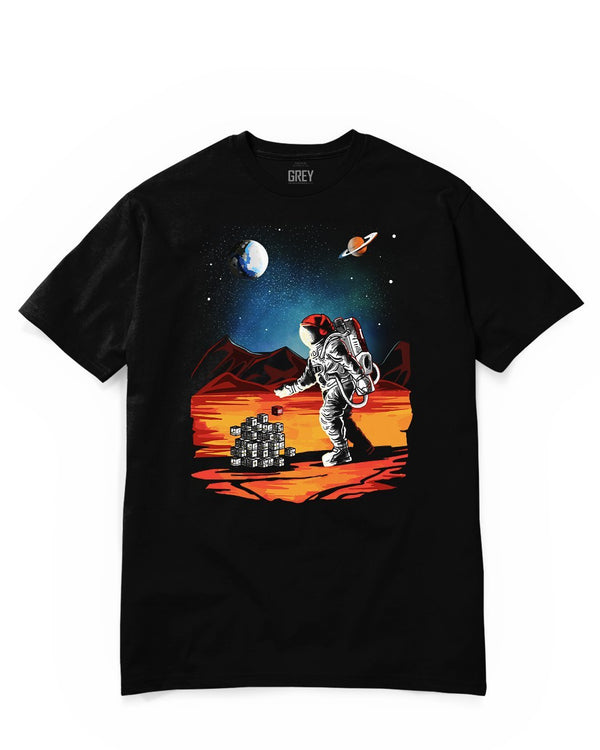 Discoverer Astronaut Tee-T-Shirt-Black-XS-GREY Style
