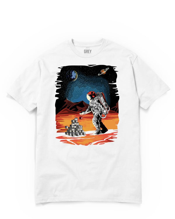 Discoverer Astronaut Tee-T-Shirt-White-XS-GREY Style