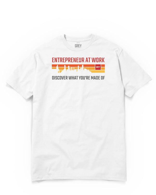 Entrepreneur At Work Tee (Ver.2)-T-Shirt-White-XS-GREY Style