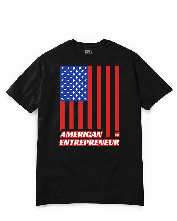 Entrepreneurs Build America Tee-T-Shirt-Black-XS-GREY Style