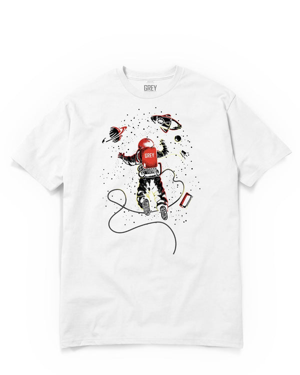 Exploring Astronaut Tee-T-Shirt-White-XS-GREY Style
