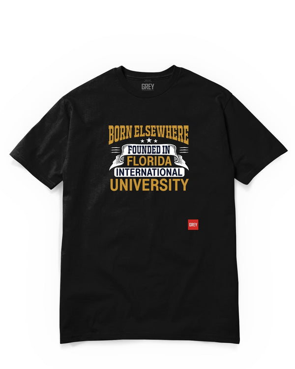 Founded in Florida International University Tee-T-Shirt-Black-XS-GREY Style