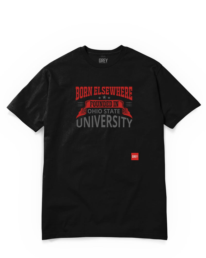 Founded in Ohio State University Tee-T-Shirt-Black-XS-GREY Style