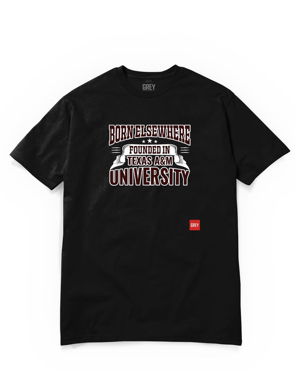 Founded in Texas A&M University Tee-T-Shirt-Black-XS-GREY Style