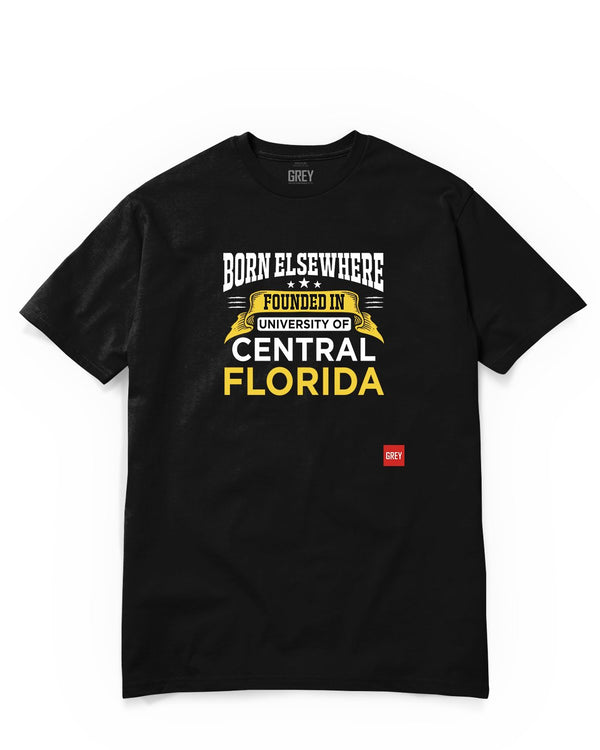 Founded in the University of Central Florida Tee-T-Shirt-Black-XS-GREY Style