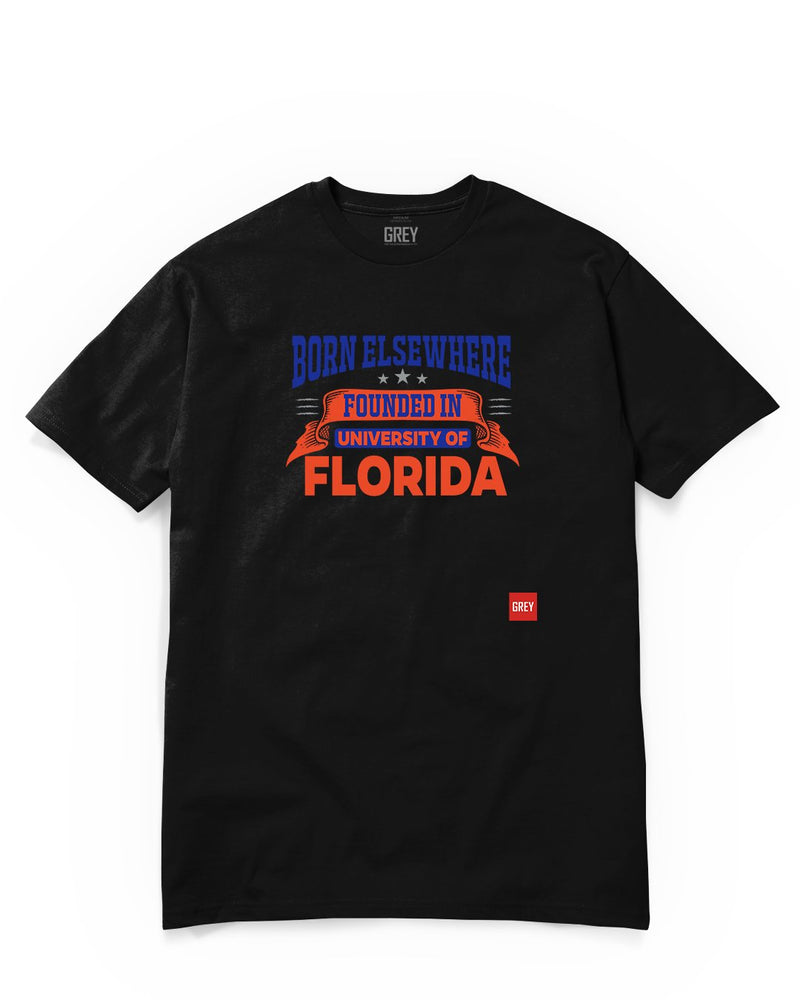 Founded in the University of Florida Tee-T-Shirt-Black-XS-GREY Style