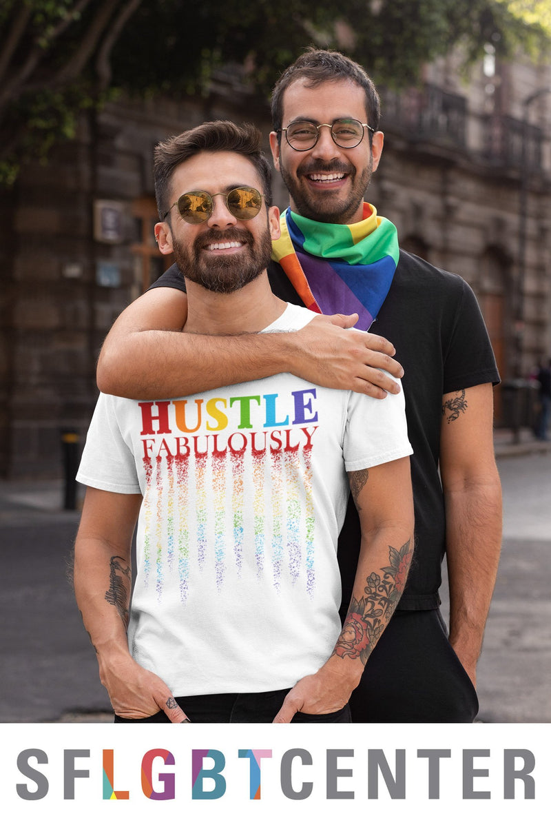 Hustle Fabulously Tee - IN COLLAB WITH SF LGBT CENTER-T-Shirt-White-XS-GREY Style