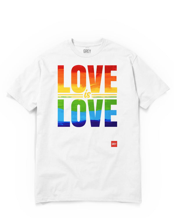 Love Is Love Tee - In Collab With Howard Brown Health-T-Shirt-White-XS-GREY Style