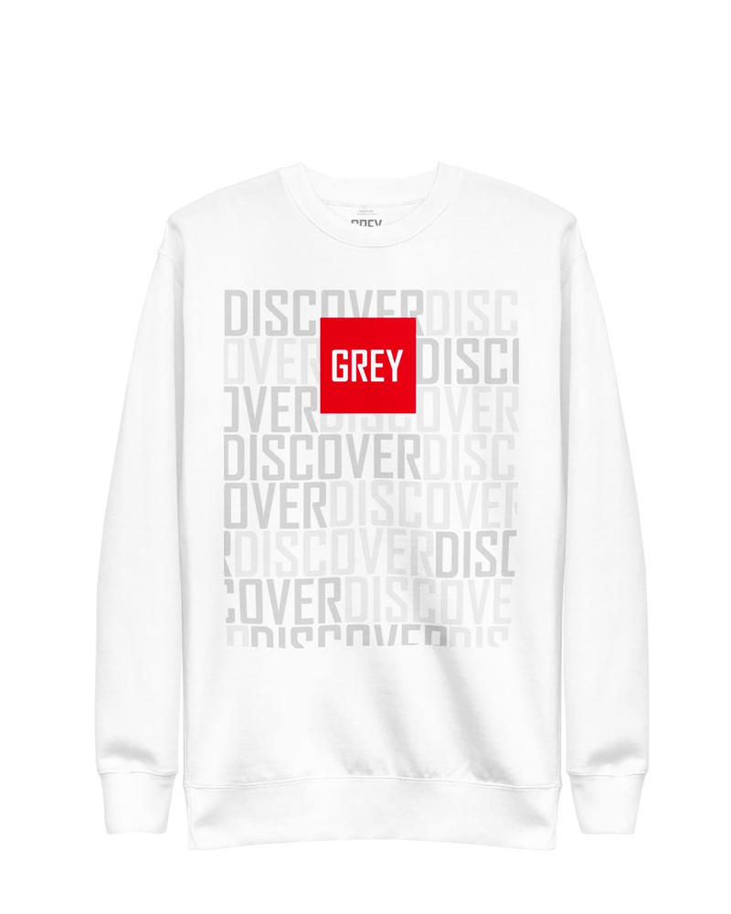 Signature Red Box Logo Sweatshirt (Ver.3)-Sweatshirt-White-S-GREY Style