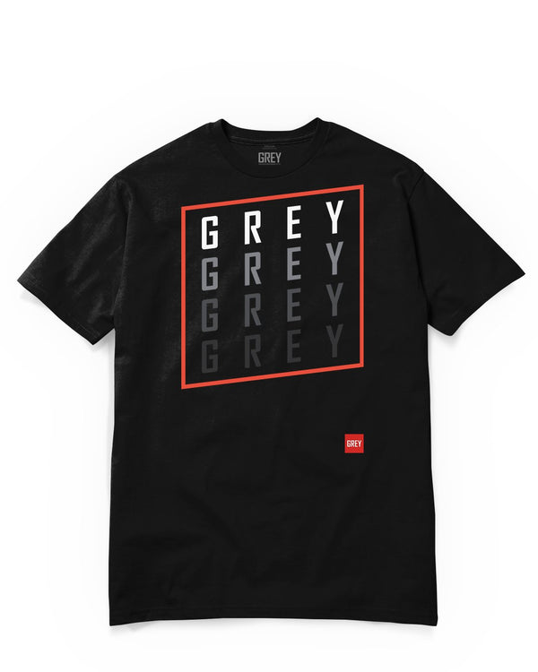 Slanted GREY Square Tee-T-Shirt-Black-XS-GREY Style