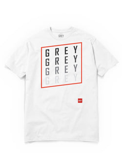 Slanted GREY Square Tee-T-Shirt-White-XS-GREY Style
