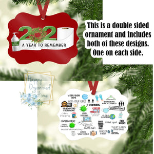 2020 A year to remember - Christmas Ornament