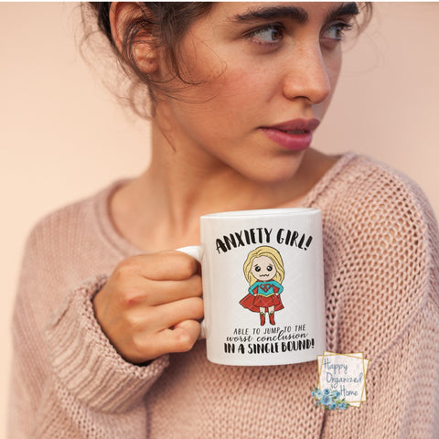 Anxiety Girl  - Ceramic Coffee Mug