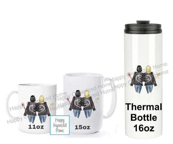 Best Friends - Personalized Mugs and Tumblers