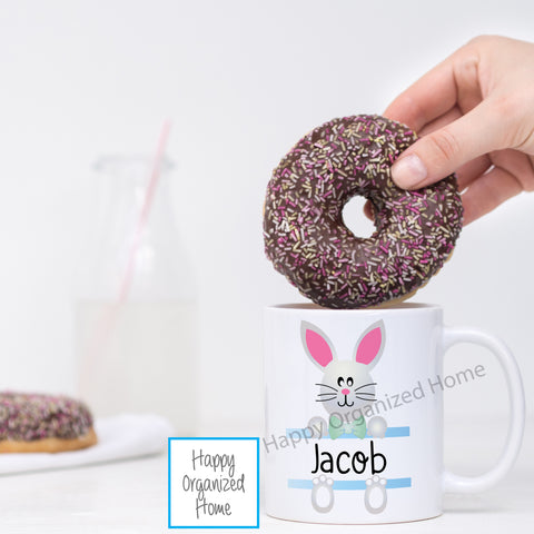Blue Easter Bunny -  Personalized Easter Mug
