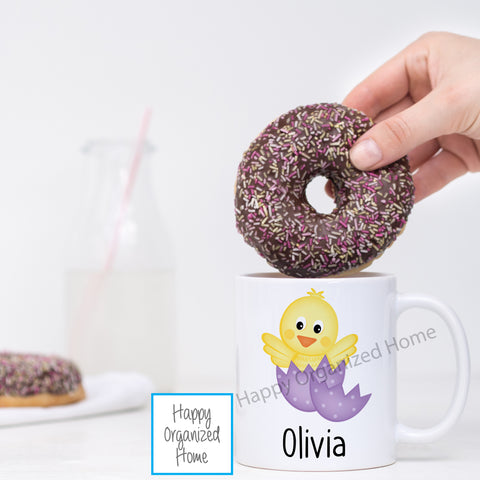 Chick in Cracked Easter Egg -  Personalized Easter Mug