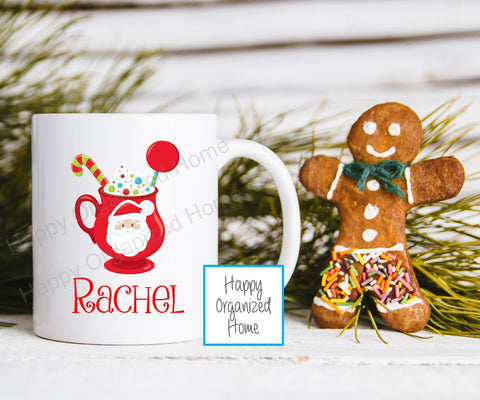Christmas Hot Cup of Cocoa Personalized Kids Unbreakable mug
