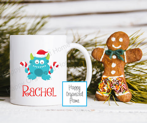 Christmas Monsters Personalized Kids Unbreakable mug