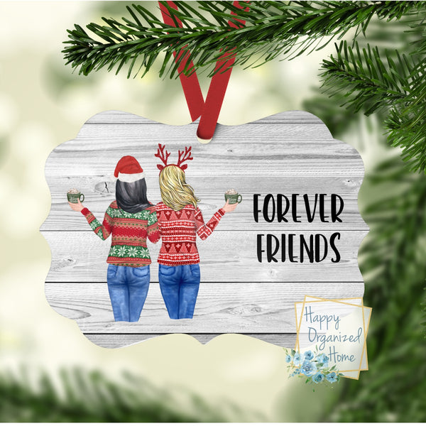 Best Friends and sisters Christmas Ornament
