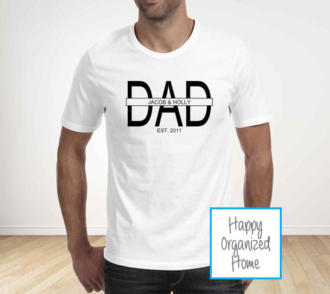 Dad Personalized Father's Day T-shirt