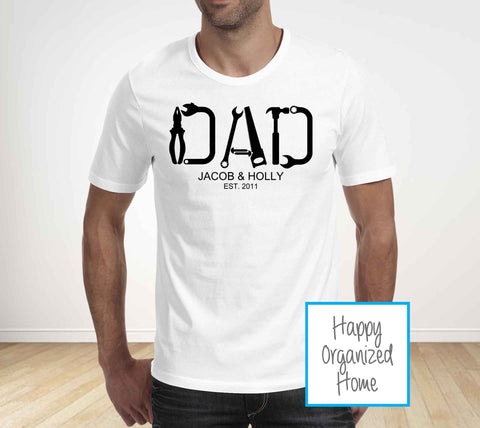 Dad Tools Personalized Father's Day T-shirt