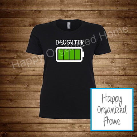Daughter Battery Tshirt