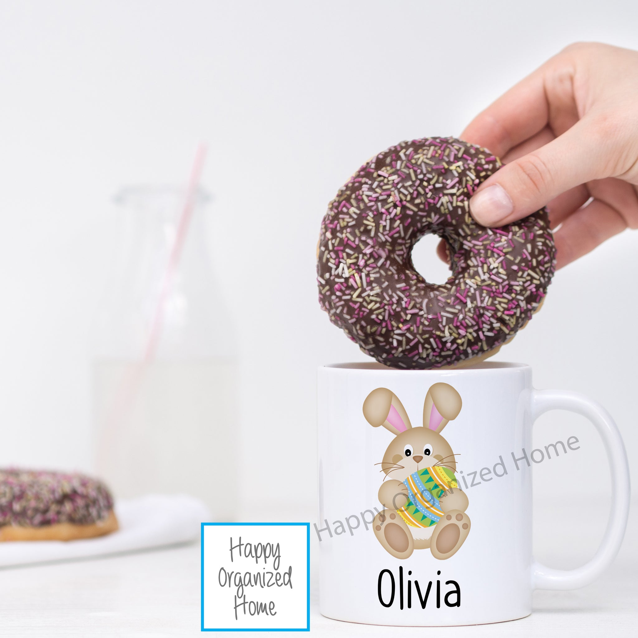 Easter Bunny with Egg Personalized Easter Mug
