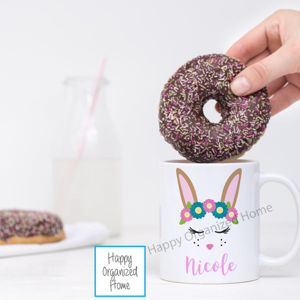 Easter Bunny Face Personalized Mug
