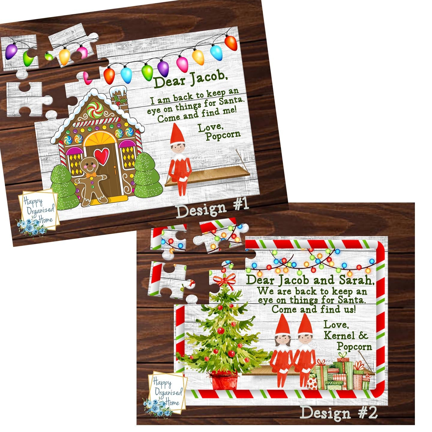 Elf 30 piece Personalized Puzzle