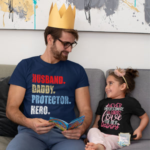 Husband, Daddy, Protector, Hero Tshirt - Father's Day