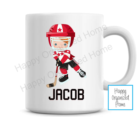 Hockey Player Personalized Kids Unbreakable mug