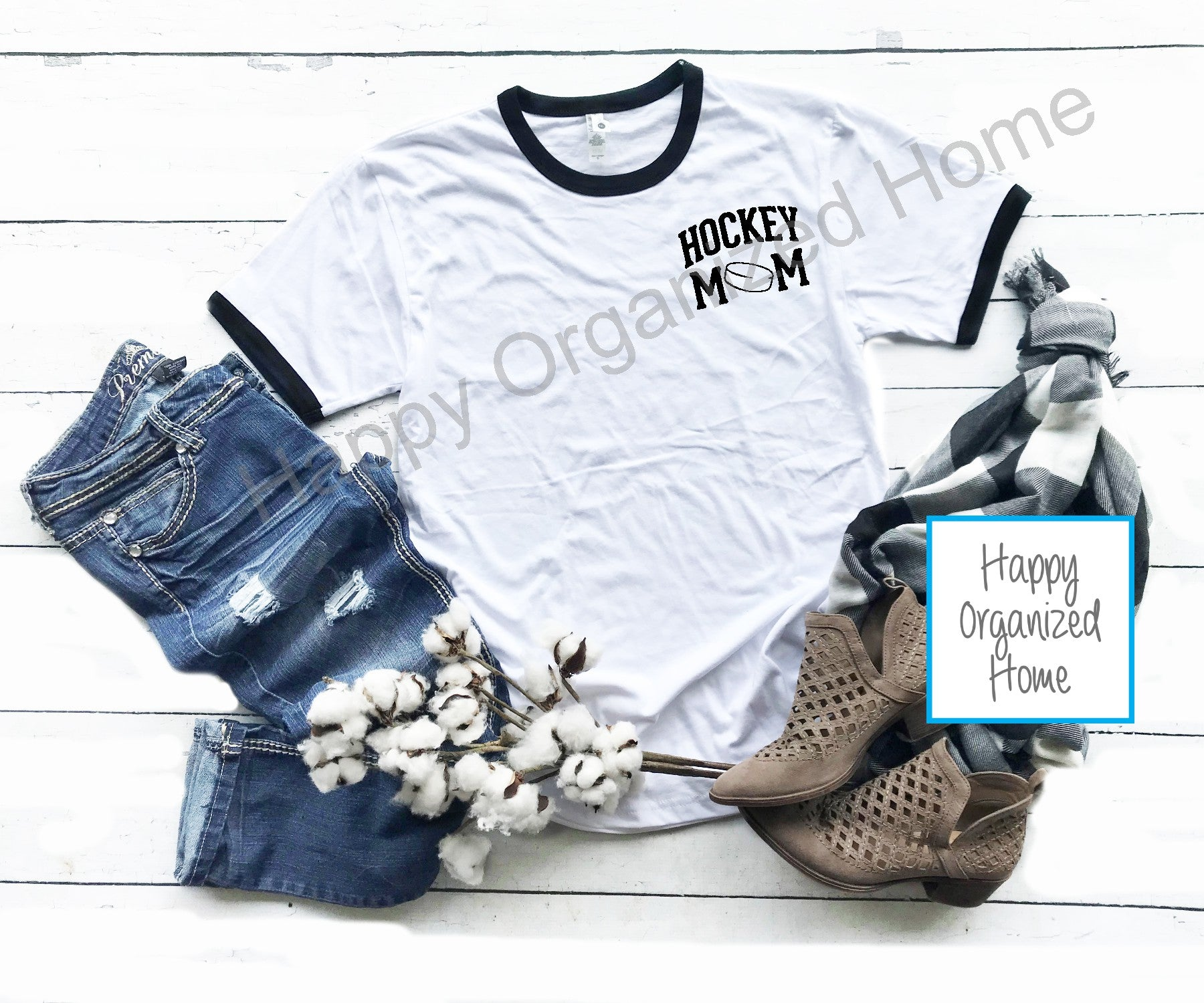 Hockey Mom - Ladies Ringer Tee