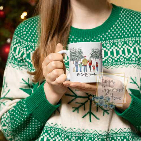 Christmas Family Mugs - Customized and includes pets