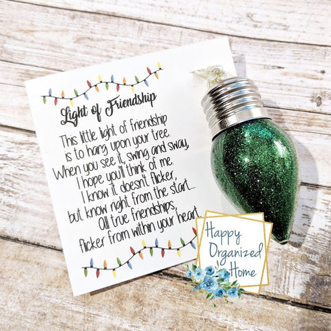Light of friendship Christmas Ornament