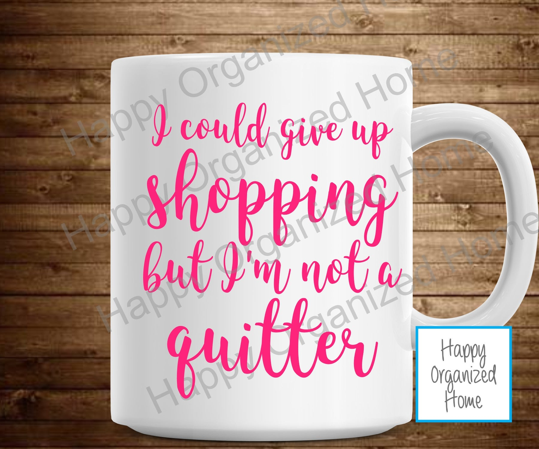 I could give up Shopping, but I'm not a quitter