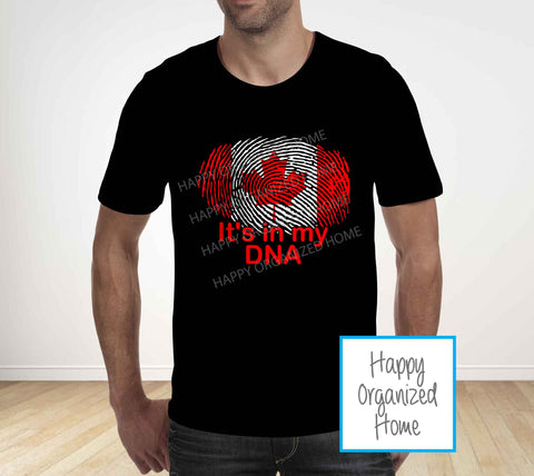 It's in my DNA - Canada Day Tshirt - Unisex