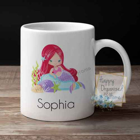 Mermaid Personalized Kids Unbreakable mug