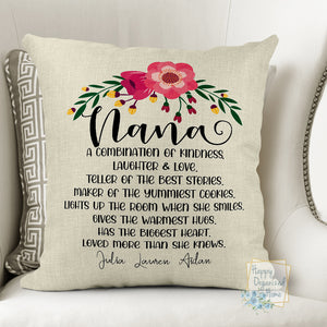 Personalized Nana Quote Pillow