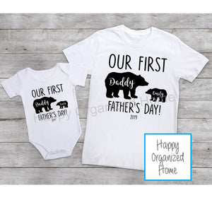 First Father's Day T-shirt and Body Suit Set