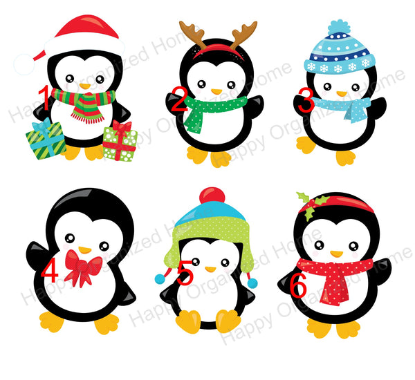 Christmas Penguin Characters Personalized Kids Unbreakable mug