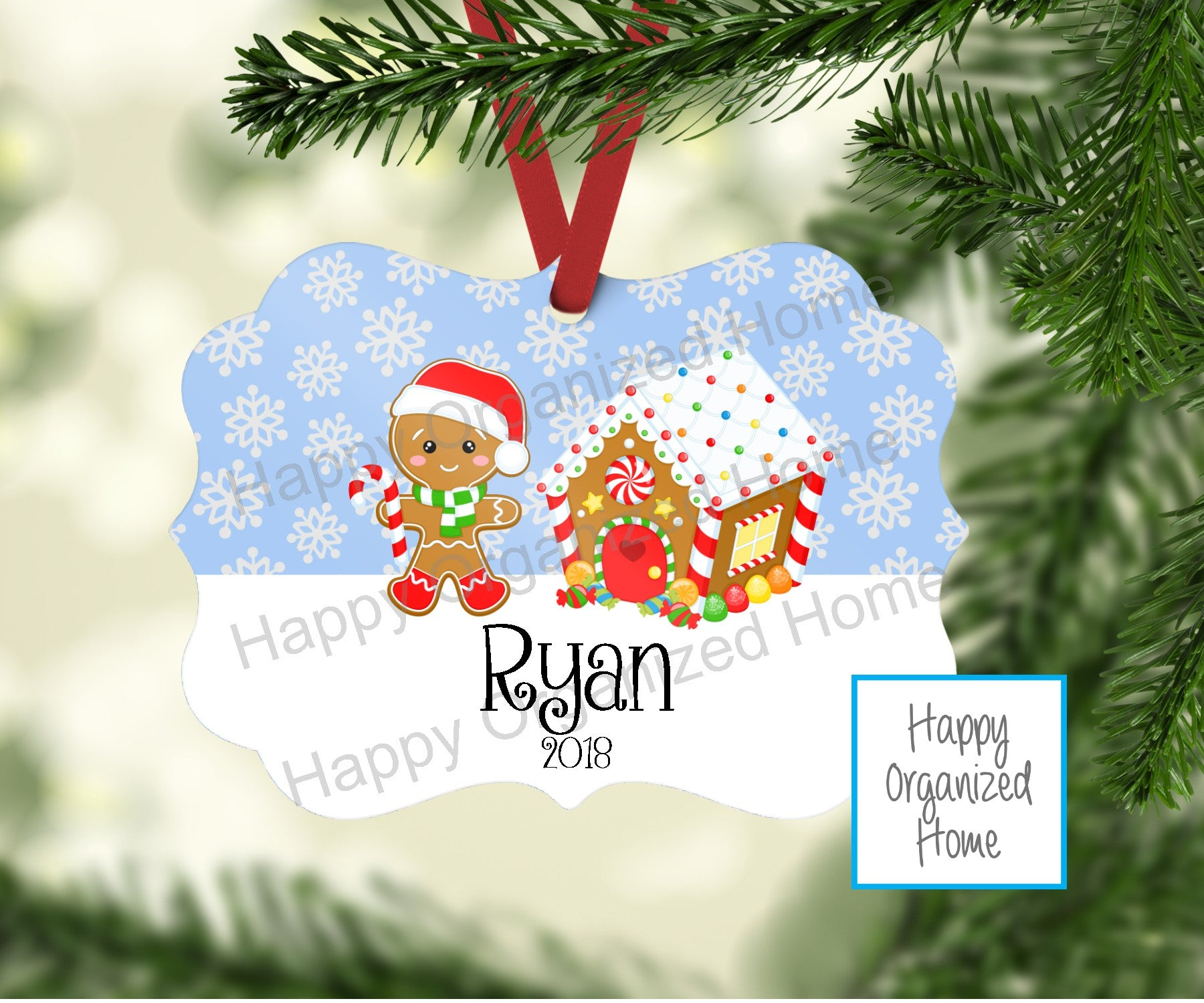 Personalized Christmas Ornament Boy