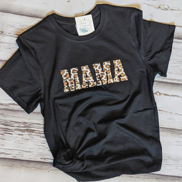 Mama leopard print - ladies t-shirt