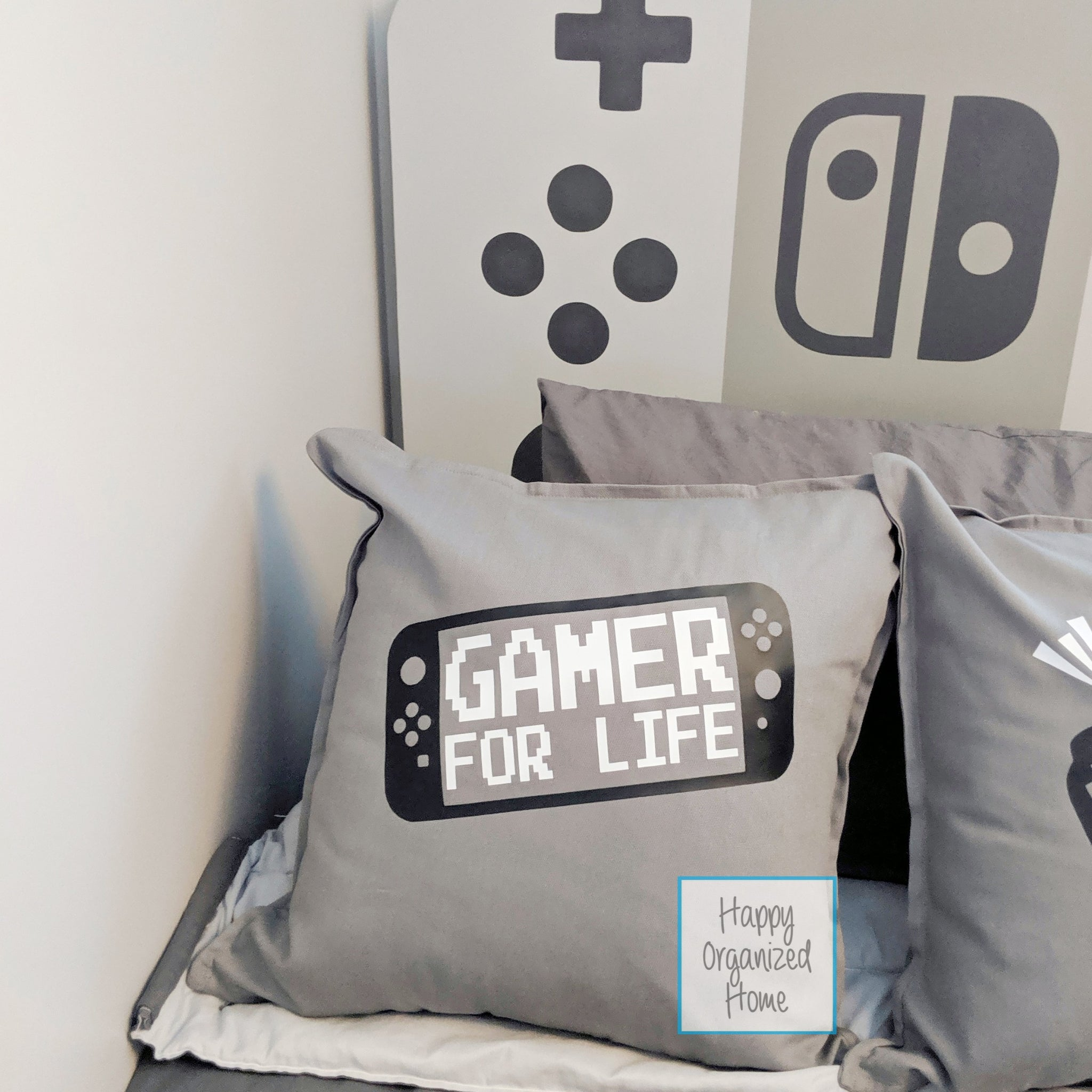 Gamer for life -  Home Decor Pillow