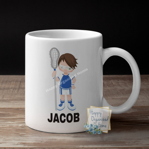 Lacrosse Player Personalized Kids (Girls and Boys)  Unbreakable mug