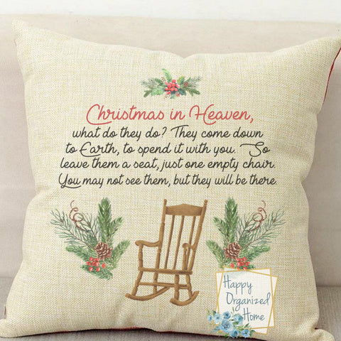 Christmas In Heaven -  Home Decor Pillow
